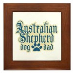Australian Shepherd Dad Framed Tile