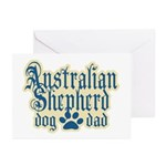 Australian Shepherd Dad Greeting Cards (Pk of 10)