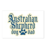 Australian Shepherd Dad Postcards (Package of 8)