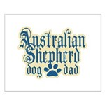 Australian Shepherd Dad Small Poster