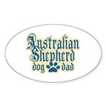 Australian Shepherd Dad Sticker (Oval 50 pk)