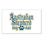 Australian Shepherd Dad Sticker (Rectangle 10 pk)