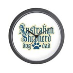 Australian Shepherd Dad Wall Clock