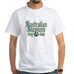 Australian Shepherd Dad White T-Shirt
