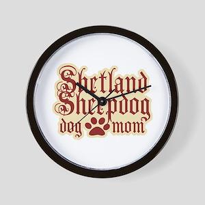 Shetland Sheepdog Mom Wall Clock