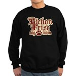 Bichon Frise Mom Sweatshirt (dark)