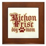 Bichon Frise Mom Framed Tile
