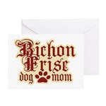 Bichon Frise Mom Greeting Cards (Pk of 10)