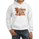 Bichon Frise Mom Hooded Sweatshirt