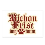 Bichon Frise Mom Postcards (Package of 8)