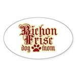 Bichon Frise Mom Sticker (Oval)