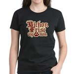 Bichon Frise Mom Women's Dark T-Shirt