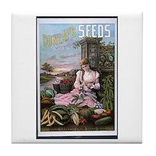 Dunlap's Seeds Tile Coaster