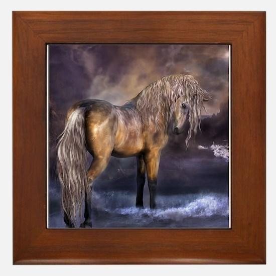 Cool Western art Framed Tile