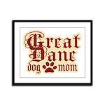 Great Dane Mom Framed Panel Print