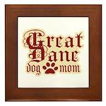 Great Dane Mom Framed Tile