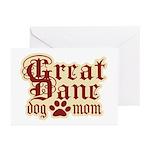Great Dane Mom Greeting Cards (Pk of 10)