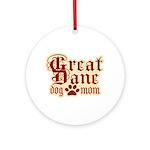 Great Dane Mom Ornament (Round)