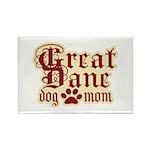 Great Dane Mom Rectangle Magnet (10 pack)