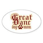 Great Dane Mom Sticker (Oval 10 pk)