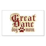 Great Dane Mom Sticker (Rectangle)
