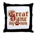 Great Dane Mom Throw Pillow