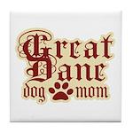 Great Dane Mom Tile Coaster