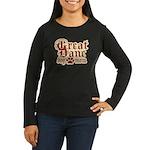 Great Dane Mom Women's Long Sleeve Dark T-Shirt