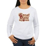 Great Dane Mom Women's Long Sleeve T-Shirt