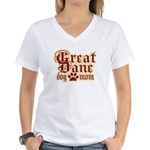 Great Dane Mom Women's V-Neck T-Shirt