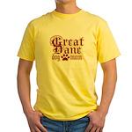 Great Dane Mom Yellow T-Shirt