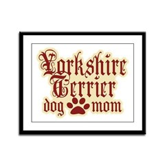 Yorkshire Terrier Mom Framed Panel Print