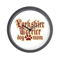 Yorkshire Terrier Mom Wall Clock