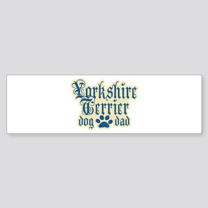 Yorkshire Terrier Dad Sticker (Bumper)