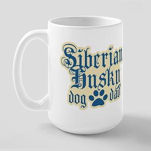 Siberian Husky Dad Large Mug