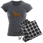 Vizsla Women's Charcoal Pajamas