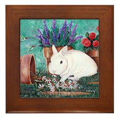 Twinkie Bunny Framed Tile