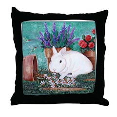 Twinkie Bunny Throw Pillow