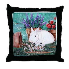 Twinkie Bunny Throw Pillow