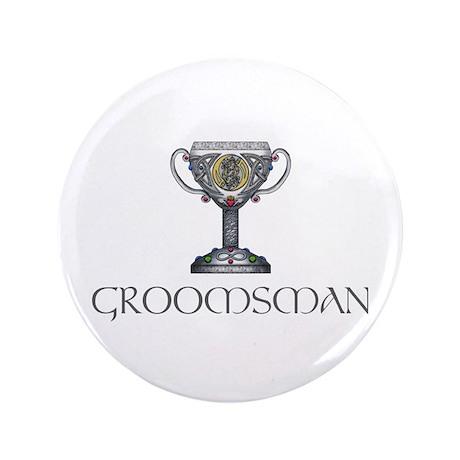 "Celtic Groomsman 3.5"" Button"