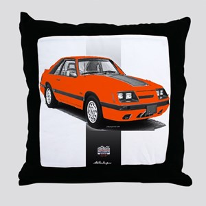 Mustang 1985 - 1986 Throw Pillow
