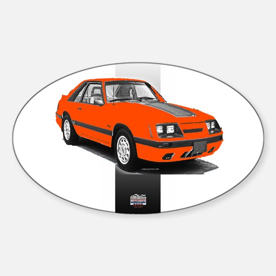 Mustang 1985 - 1986 Oval Decal