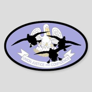 Louisiana Ducks Oval Sticker