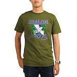 Jewish Peace (Shalom) Organic Men's T-Shirt (dark)