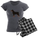 Rottweiler Women's Charcoal Pajamas