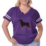 Rottweiler Women's Plus Size Football T-Shirt