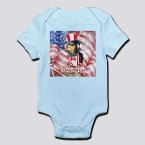 I Love Doxie Infant Bodysuit