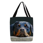 Rottweiler Polyester Tote Bag