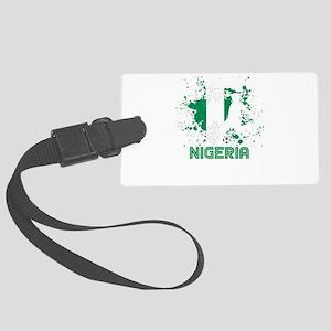 Football Worldcup Nigeria Nigeri Large Luggage Tag