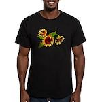 Sunflower Garden Men's Fitted T-Shirt (dark)